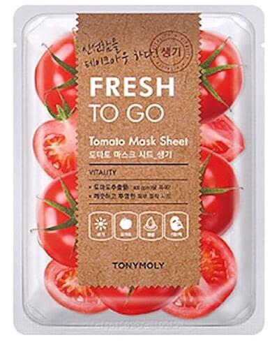 Tonymoly(トニーモリー)フレッシュ・ツー・ゴー・アロエ・マスク・シート、トマト